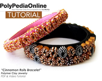 Polymer Clay Tutorial, PDF Tutorial, DIY Beads, Fimo Jewelry, DIY Handmade beads, Bracelet Tutorial, Cuff Tutorial, How to Sculpt, Craft