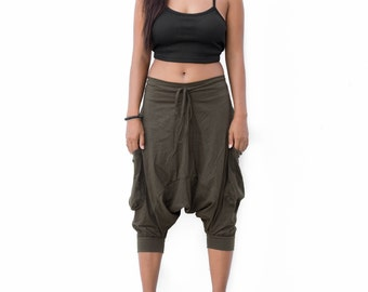 Ninja Pants, Harem Pants Drop Crotch women men, , Boho Pants, Yoga Pants, Hip Hop Pants, Gypsy Pants, Baggy Pants