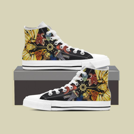 High Custom Naruto Manga Beasts Top Naruto Custom Shoes vs Naruto Converse Custom Sasuke Anime Uzumaki Naruto Tailed Itachi Sneaker wqX5xW6I7