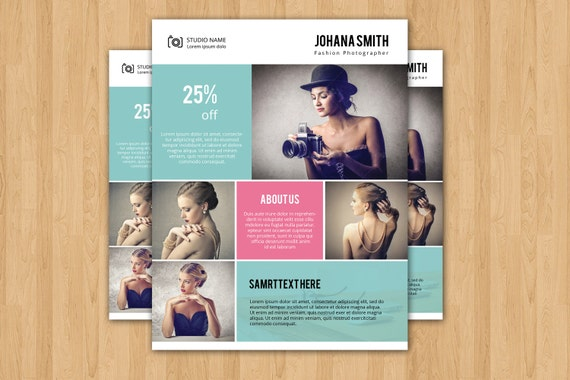 Photography Flyer Template Elegant Promotional Flyer For