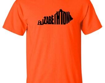 Elizabethtown Kentucky Word Art Hometown Pride Adult Unisex Tshirt