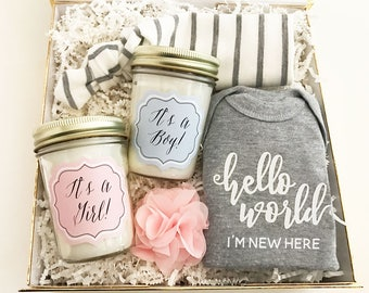 Baby Mason Jar Candle-Baby Shower Gift-New Mom Gift
