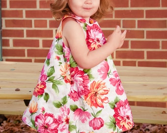 Alice - Reversible A-line Dress PDF Sewing Pattern - Newborn to 12 years, fully reversible, snaps or buttons
