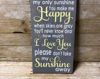 You are my sunshine sign| nursery decor