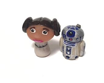 OOAK Star Wars Inspired Princess Leia Character Pop Culture 'Shroom Figurine - Handpainted Polymer Clay Sculpture