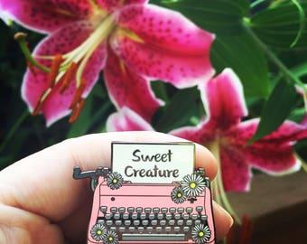 Harry's Typewriter Enamel Pin