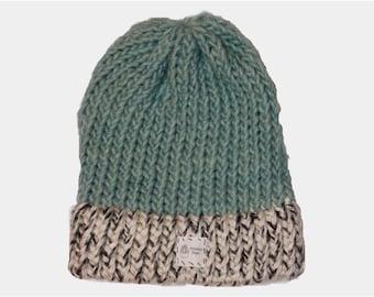 Seafoam Green Cap with Speckled White Brim