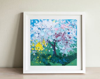 Tree Paintings, Trendy Home Decor, Botanicals Gardens, Nature Paintings, Landscape Art, Abstract Landscape, Small Gift Ideas, Gifts for Her