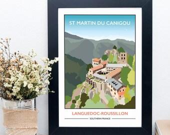 St Martin Du Canigou, Pyrenees, France Print
