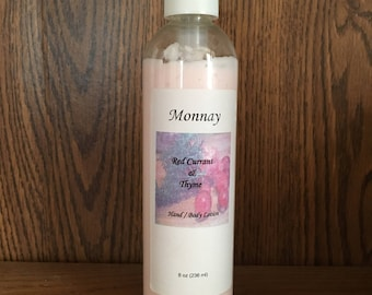 8 oz scented lotion - Red Currant & Thyme