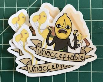 Earl of Lemongrab Adventure Time Sticker