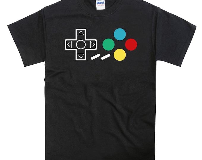 SNES Super Nintendo Controller Joypad Buttons Tshirt