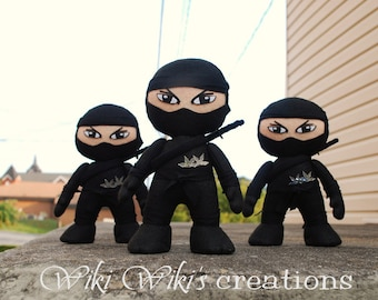 Small Felt Plush Ninja Dolls