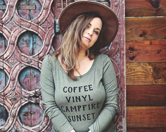 The Coffee Long Sleeve Tee - Womens