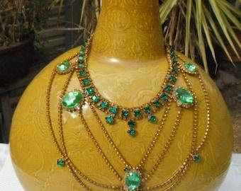 Vintage Czech 1930'3 Rhinestone Necklace