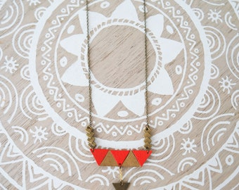 "Necklace Bohemian ""Nayan"" reversible leather and Cork, leather necklace, boho chic necklace, Bohemian leather necklace"