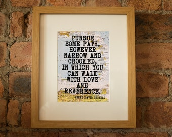 Henry David Thoreau Inspirational Travel Quote Print - Hand-Pulled Screenprint.