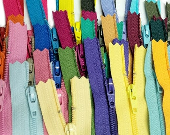 Special Sale  25 Assorted 7 Inch YKK Number 3 Skirt Zippers for Crafts~ Closed Bottom~ZipperStop Wholesale Authorized Distributor YKK®
