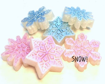 Snowflake Soap - Ice Soap - Winter Party Soap - Gift for Mom - Free U.S. Shipping - Holiday Party Favors - Christmas Party