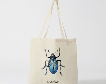 X200Y tote bag insect, bag canvas cotton bag, diaper bag, handbag, tote bag, bag of race, current bag, shopping bag, gift for friend