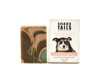 Soapy Tails Long Combination Coat ~  Cedar & Pink Grapefruit 4.75 oz.- Dog Shampoo Bar Soap