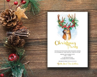 Christmas Party Invitation, Christmas Invitation Template,printable Christmas party Invitation, Digital Invitation, Christmas PDF.