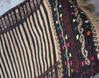 45 % OFF BIG SALE Size ' 1'9 x 4'10 Feet / Afghan Tribal zebra wool Handmade Sufrah kilim runner