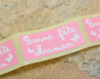 10 mother's day gift chalkboard labels sticker