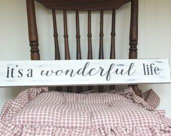 Farmhouse Christmas Decor - It's a Wonderful Life Sign - Christmas Decor - Holiday Sign - Holiday Decor - It's a Wonderful Life - Christmas