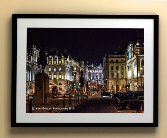 London Photography, London at Night off Pall Mall, City Photography, London Print, London Wall Art, Fine Art Photography, London England UK