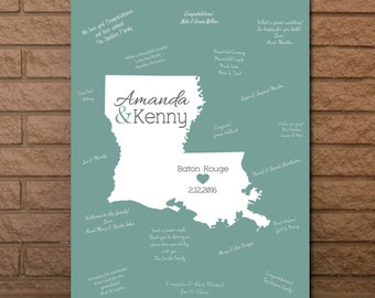 Wedding Guestbook, State Guestbook, Louisiana Guest Book, Wedding Guest Book, Louisiana Wedding Sign, Louisiana Wedding, Guest book