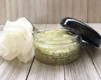 Foot Scrub Mina's Body Organic, Natural, Cruelty free, chemically free skin products always infused with Vitamins to Glow your Skin