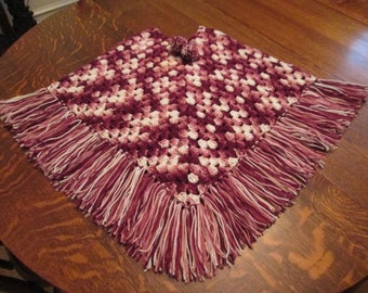 Crocheted Poncho--Teens
