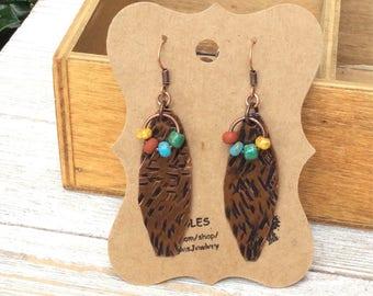 Long Patina Earrings