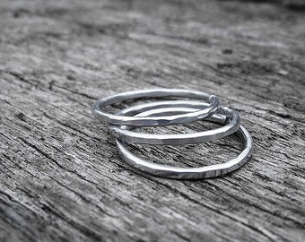 Set of 3 Hammered Aluminum Rings