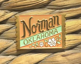 Norman, OK enamel pin