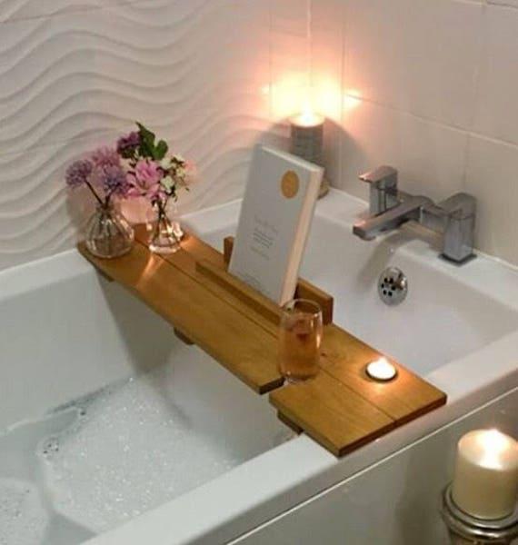 Bath Caddy Bath Shelf Father\'s Day Gift Bath Plank