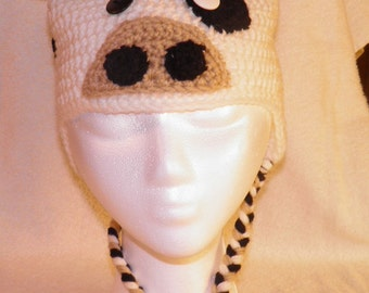 Cow Crocheted Hat
