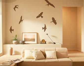 Birds In Flight - Set of 7 - Vinyl Wall Decals