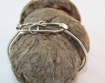 Silver Cuff Bracelet / Silver Bracelet / Eternity Bracelet / Women's Jewelry
