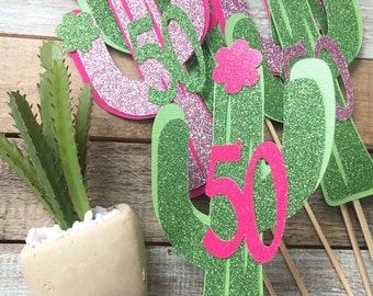 Set of 4 Cactus Center Pieces