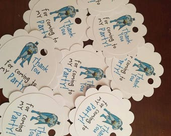 12 Batman Party Favor Thank You Tags (can be personalized)