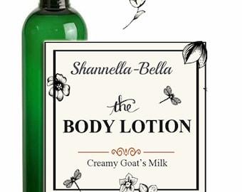 Body Lotion Creamy Goat's Milk Shannella-Bella 8oz Nourishing Vitamin Rich Therapeutic All Over Body Lotion