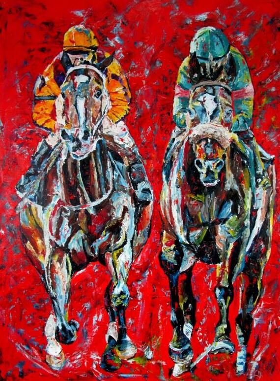 "Rachel Alexandra Zenyatta Horse Racing Derby HOF Print 11""x14"" matted"