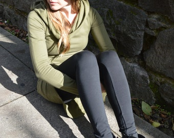 Organic cotton thick leggings - organic yoga pants