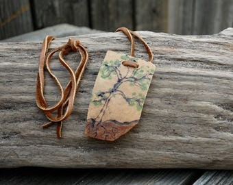 Tree gourd necklace, naturalist necklace,arborist necklace, tree gift