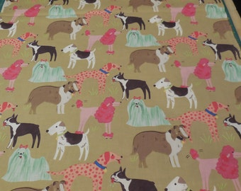 1 Yard of Maude Asbury *Best in Show* Dogs by Blend Fabrics