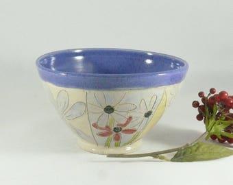 Ceramic Salad bowl, Soup bowl, Handmade , cereal bowl, ceramic serving bowl, save the bees art, bumblebee art, kitchen dinnerware 136