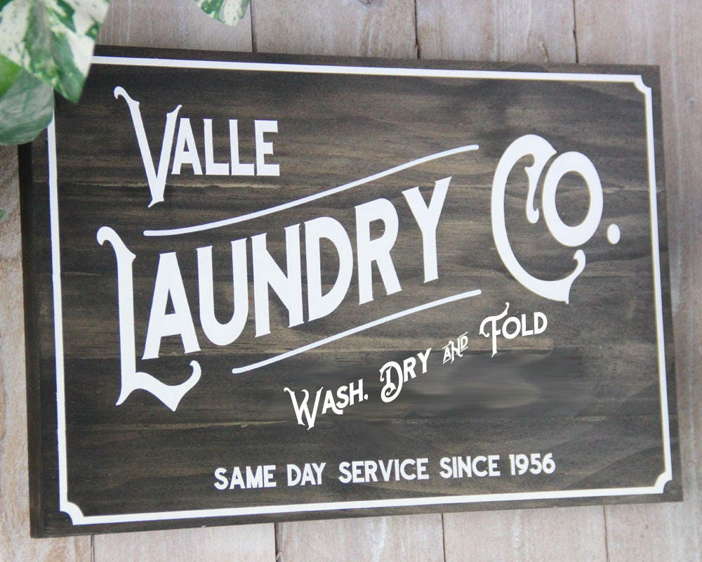 Old Vintage Laundry Signs