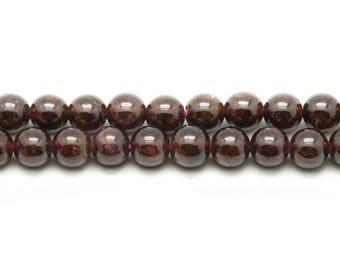 Beads - Garnet 6mm - 10 pc 4558550037244 bag